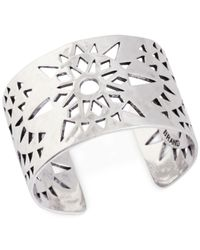 Lucky Brand - Metallic Silver-Tone Openwork Cuff Bracelet - Lyst