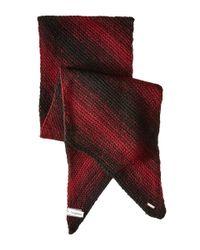 Calvin Klein - Black Marled Angled Edge Scarf - Lyst