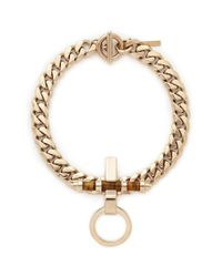 Givenchy - Metallic 'obsedia' Stone Pendant Chain Necklace - Lyst