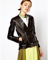 Antipodium - Black Threshold Leather Jacket - Lyst