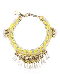 Sveva Collection | Yellow Chandra Necklace | Lyst