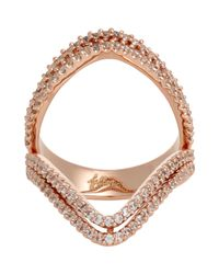 Fallon | Metallic Layered Pointer Ring | Lyst