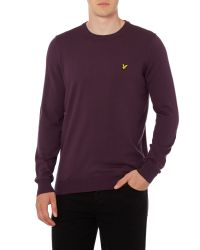 Lyle & Scott | Purple Crew Neck Classic Cotton Jumper for Men | Lyst