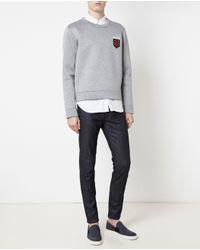 Gucci | Gray Crest Logo Sweatshirt for Men | Lyst
