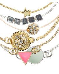 H&M - Metallic 6-pack Bracelets - Lyst