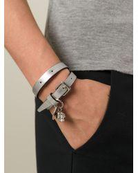 Alexander McQueen - Metallic Double Wrap Bracelet - Lyst