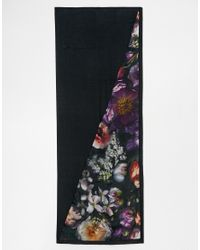 Ted Baker - Multicolor Shadow Flora Split Scarf - Lyst