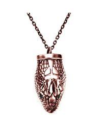 Pamela Love | Pink Large Serpentine Pendant | Lyst