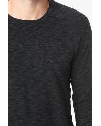 7 For All Mankind | Gray Long Sleeve Crewneck In Charcoal for Men | Lyst