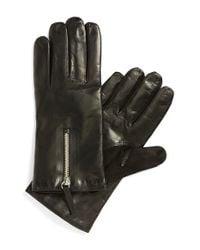 Want Les Essentiels De La Vie - Black 'mozart' Lambskin Gloves for Men - Lyst