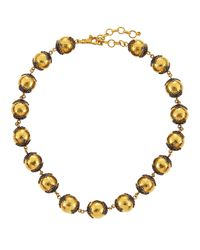 Gurhan - Metallic 24k Hammered Gold Capped Ball Necklace - Lyst
