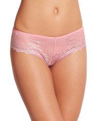 Wacoal | Pink Embrace Lace Tanga | Lyst