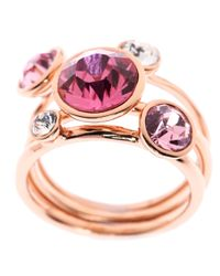 Ted Baker - Pink Jackie Jewel Stack Ring - Lyst