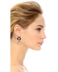 Lulu Frost - Narcissus Drop Earrings - Black/gold - Lyst