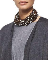 Eskandar - Multicolor Multi-Strand Beaded Choker Necklace - Lyst