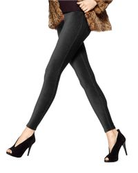 Hue | Black Corduroy Denim Leggings | Lyst