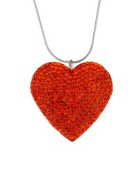 Mikey | Red Flat Heart Necklace | Lyst
