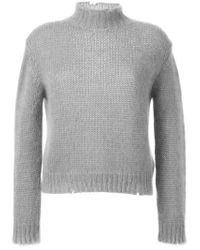 Filles A Papa - Gray Turtle Neck Sweater - Lyst