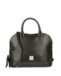 Dooney & Bourke - Black Saffiano Zip Zip Satchel - Lyst