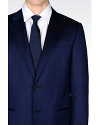 Armani | Blue Jacket In Virgin Wool for Men | Lyst
