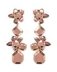 J.Crew - Pink Crystal Cluster Earrings - Lyst