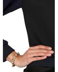 Valentino | Natural Rock Stud Beige Leather Bracelet | Lyst