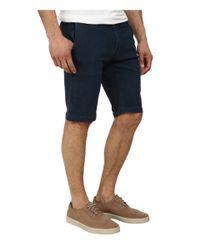 Agave - Blue Griff Birdseye Stripe Flex Shorts for Men - Lyst