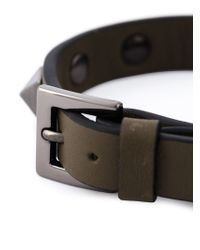 Valentino - Brown 'rockstud' Bracelet for Men - Lyst