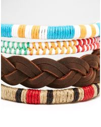 ASOS | Multicolor Bracelet Pack With Colour Detail for Men | Lyst