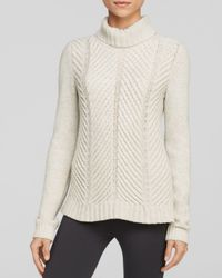 Vince - Gray Chevron Turtleneck - Lyst