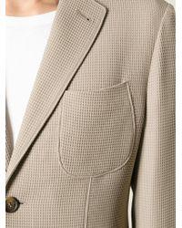 Giorgio Armani | Natural 'Tokyo' Pique Blazer for Men | Lyst