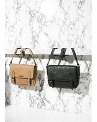 Mango - Black Pebbled Messenger Bag for Men - Lyst