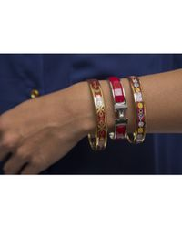 Hermès | Pre-Owned Red Enamel Clic Clac Pm Bracelet | Lyst