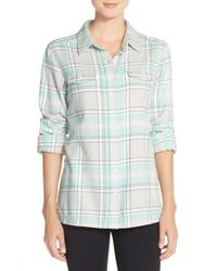 Patagonia - Gray 'fjord' Flannel Shirt - Lyst