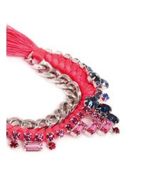 Joomi Lim - Multicolor Cotton Braid Crystal Bracelet - Lyst