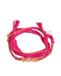 Aurelie Bidermann | Multicolor Set Of Two Charm Bracelets | Lyst