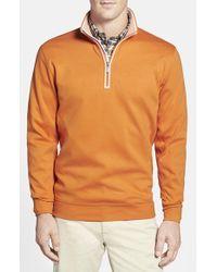 Bobby Jones - Brown Quarter Zip Pullover for Men - Lyst