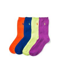 Polo Ralph Lauren - Multicolor Waffle-knit Sock Gift Set - Lyst