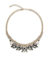 Cara | Metallic Faceted Sparkle Necklace | Lyst