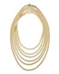 Rosantica - Metallic Bianca 24K Gold Dipped Tiered Necklace - Lyst