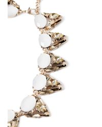 Forever 21 - White Faux Gem Statement Necklace - Lyst