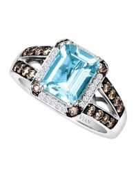 Le Vian | Metallic 14 Kt. White Gold Aqua Diamond Ring | Lyst