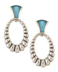 Lagos | Blue Venus Fluted Crystal & Turquoise Doublet Drop Earrings | Lyst