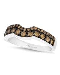 Le Vian | Brown Chocolate Diamond Wedding Band (5/8 Ct. T.w.) In 14k White Gold | Lyst