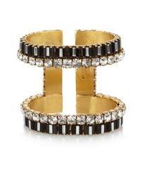 Erickson Beamon | Metallic Gold-Plated Swarovski Crystal Cuff | Lyst