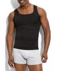 Spanx | Black Spanx 'zoned Performance' Tank for Men | Lyst