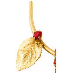 Nina Ricci - Metallic Floral Brooch - Lyst
