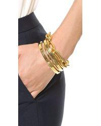 Gorjana | Metallic Downtown Layered Cuff Bracelet Gold | Lyst