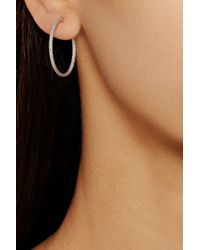 Carolina Bucci - Metallic 18-Karat White Gold Hoop Earrings - Lyst