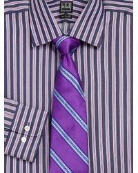 Ike Behar - Purple Thick Striped Dress Shirt for Men - Lyst